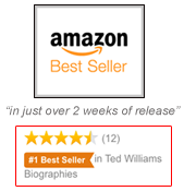 Amazon Best Seller - Ted Williams, My Father by Claudia Williams